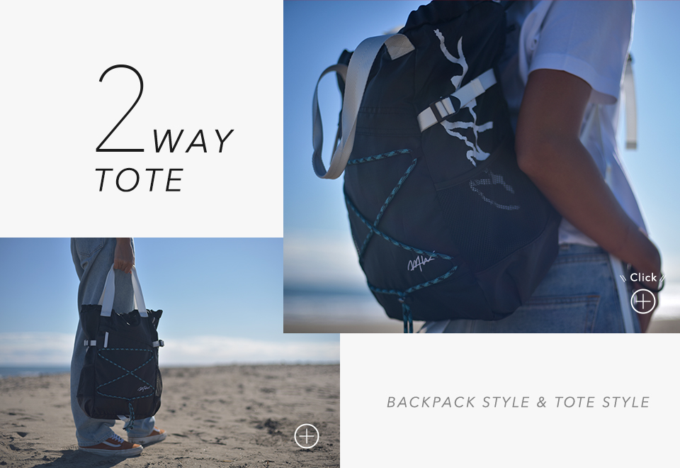 2WAY BACKPACK BACKPACK STYLE & TOTE STYLE